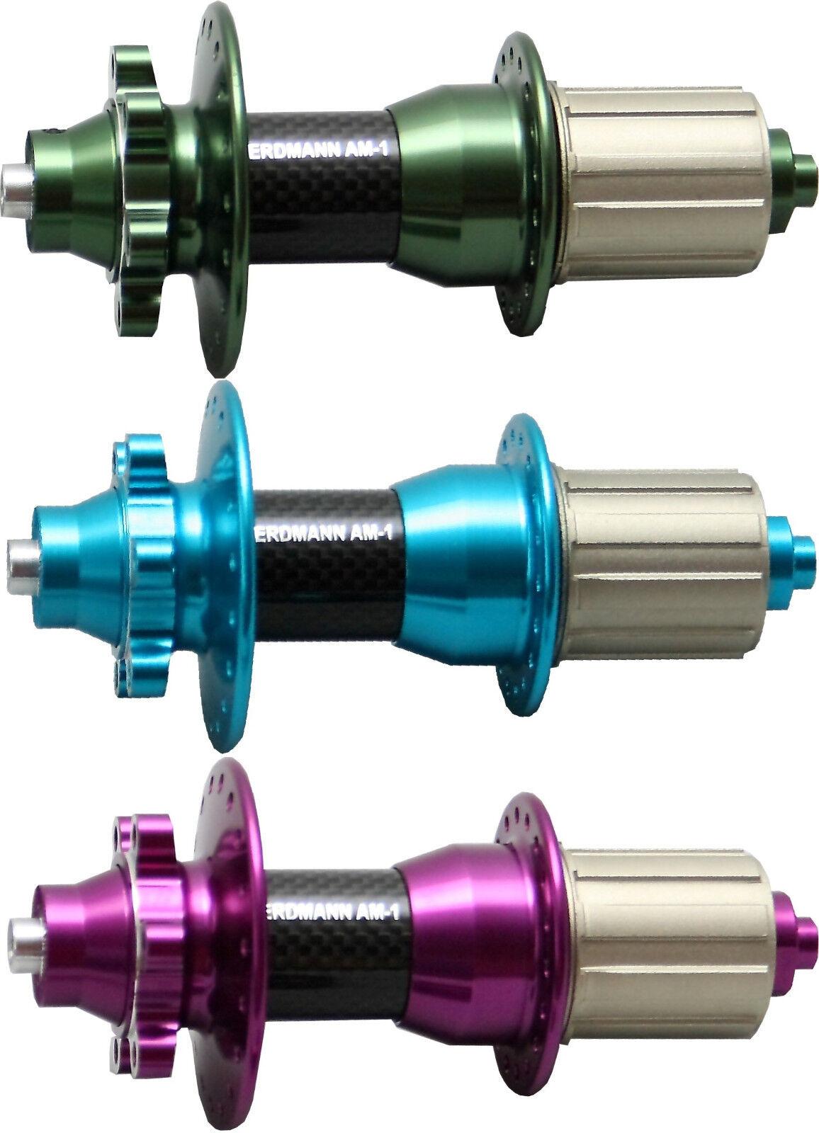 Nuevo Cubo de rueda Erdmann Am-1 Carbono 36 agujeros Shimano Rueda libre con 6