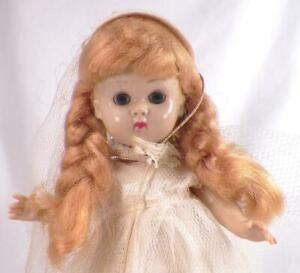 Vogue-Ginny-Bride-Doll-Hard-Plastic-Molded-Lash-Walker-Bend-Knee-Vintage
