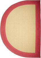 "Contemporary Burgundy Carpet Modern Slice Accent Area Rug - Actual 1' 8"" x 2' 8"""