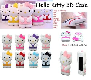 Hello Kitty 3D Cute Cartoon Case Cover For IPHONE 4 5 5c ...