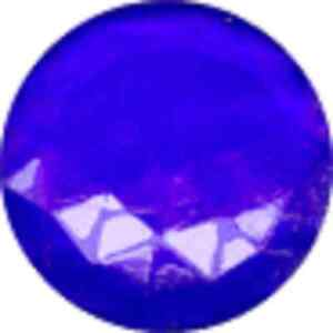 25mm dark blue round faceted glass jewel flat back
