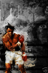 "MUHAMMAD ALI  24""x36"" Canvas Art Print"