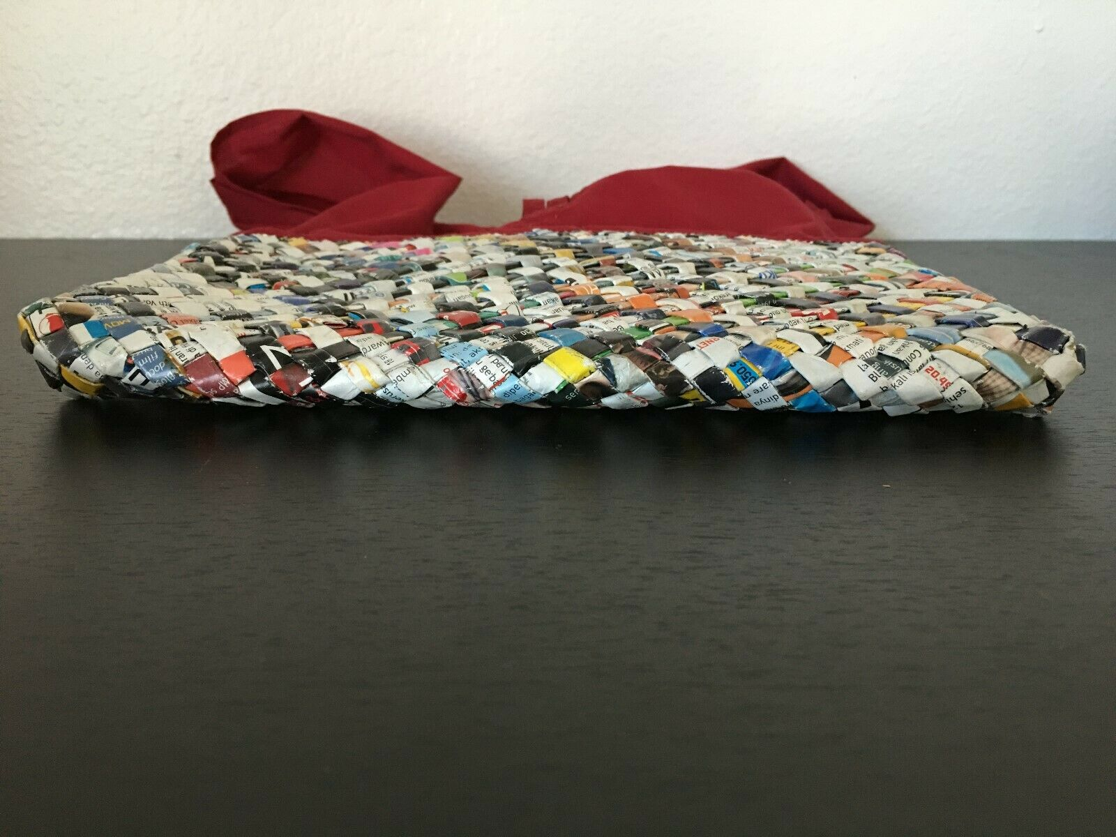 Colorful Recycled Woven Magazine / Newspaper Purs… - image 5