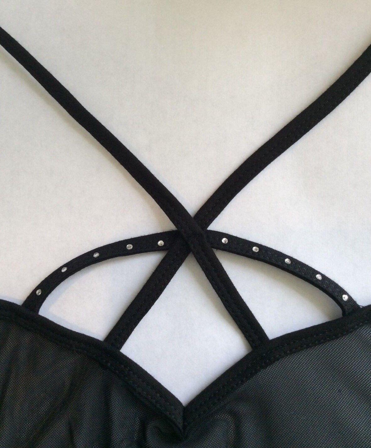 Diamante Leotard.Rhinestone Gymnastic Dance wear UK Black Ballet Bodysuit.6-15Y