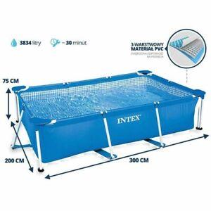 Piscina-Fuori-Terra-Intex-28272-Frame-Rettangolare-300x200x75cm-3834-litri-Nuova