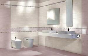 Piastrelle ceramica pavimento rivestimento bagno lilla rosa Edonè ...