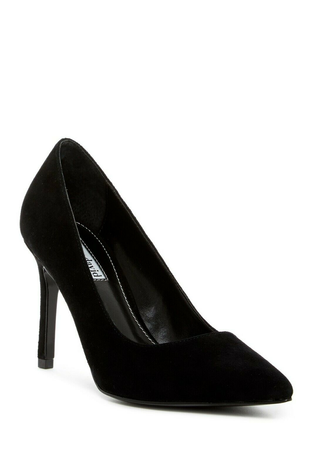 Charles David Denise Pointed Toe Suede Pump, Slip-on BLACK-SD Size 9.5,  229 NWB