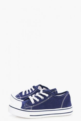 Toddler boy navy blue plimsolls trainers in size 7 uk from Urban Jacks