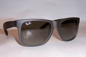 717c5dacd7e6 New RAY BAN Sunglasses JUSTIN 4165 854 7Z RUBBER BROWN GREY 51mm ...