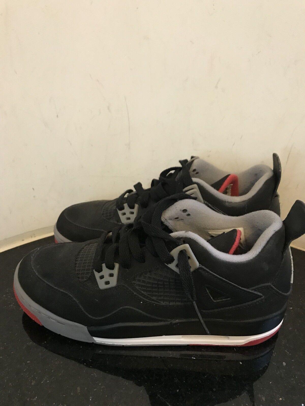 2012 Nike Air Jordan 4 IV Retro (308497 089) Bred Black Red Size 5.5 Youth