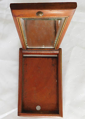 Officers wooden folding mirror Major Bayly vintage antique soldiers travel kit