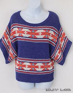 a0df05629 Image is loading American-Eagle-Colorful-Boxy-Sweater -Geometric-Southwest-Navajo-