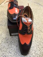 Bolano Orange/brown Two Tone Dress Shoes Two Sets Of Shoe Laces Sizes 8.5 & 10