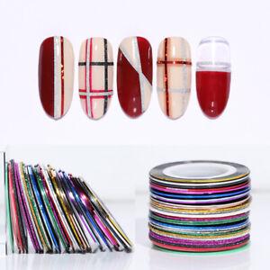 10Pcs-Nail-Striping-Tape-Line-Self-Adhesive-Decal-Holographics-Nail-Art-Stickers