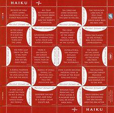 Isole MARSHALL 2017 Gomma integra, non linguellato Arte di Haiku 20v M/S POESIA FRANCOBOLLI