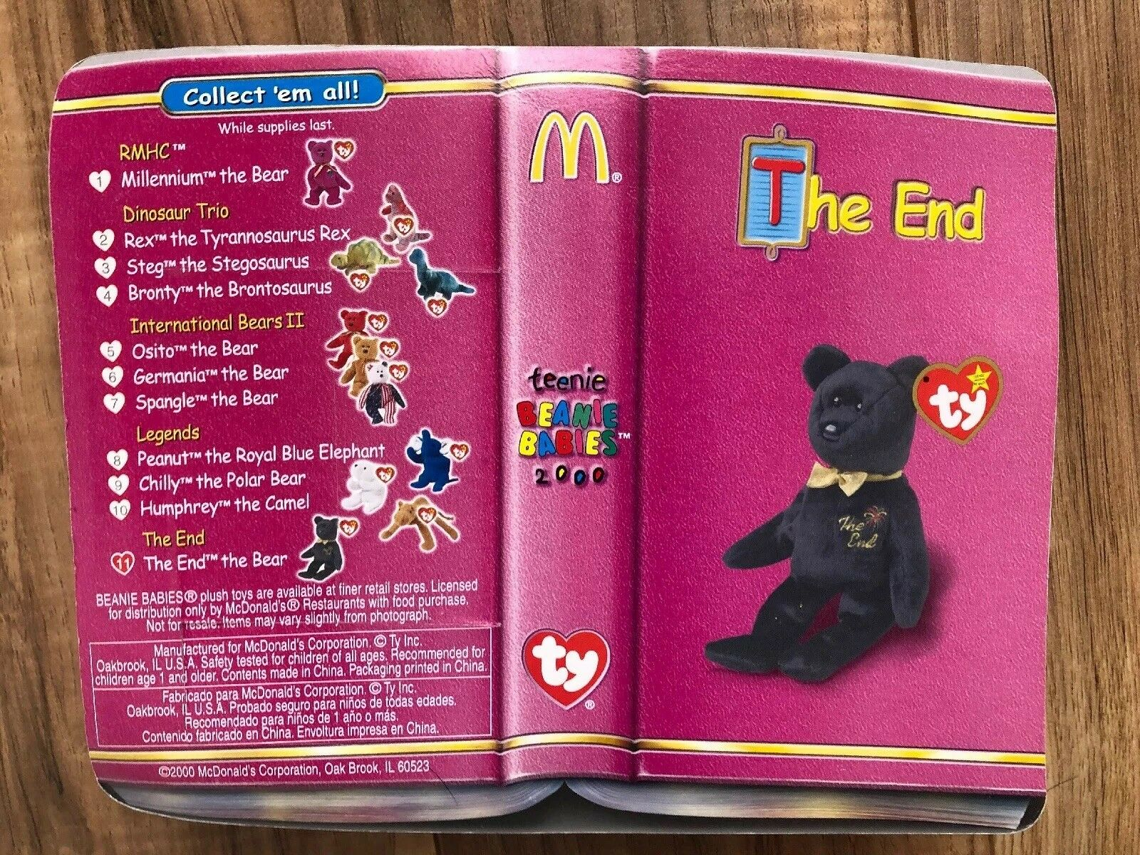 Mcdonalds Erin The Bear Beanie Baby Value