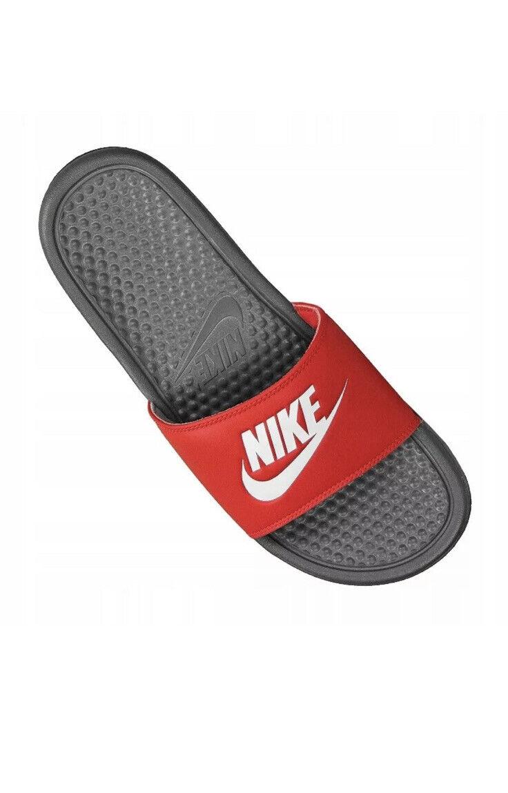 Nike BENASSI JDI RED 343880-028 Casual Slip On Sliders Beach Swimming Pool
