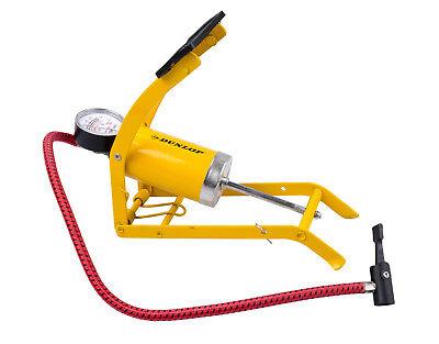DUNLOP Luftpumpe mit Manometer Tretpumpe Fahrradpumpe Pumpe Autopumpe