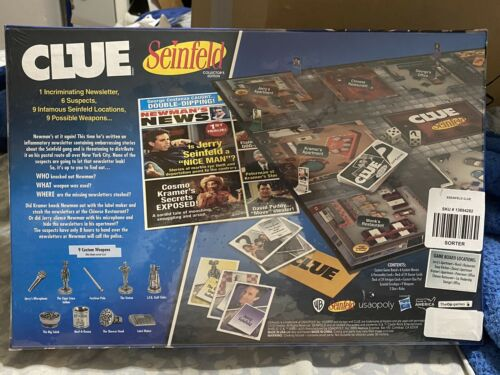 Sealed Seinfeld Collectors Edition CLUE Board Game Brand New