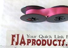 Universal Typewriter Ribbon Twin Spool Pink Ink 12 Cloth Ribbon Brand New