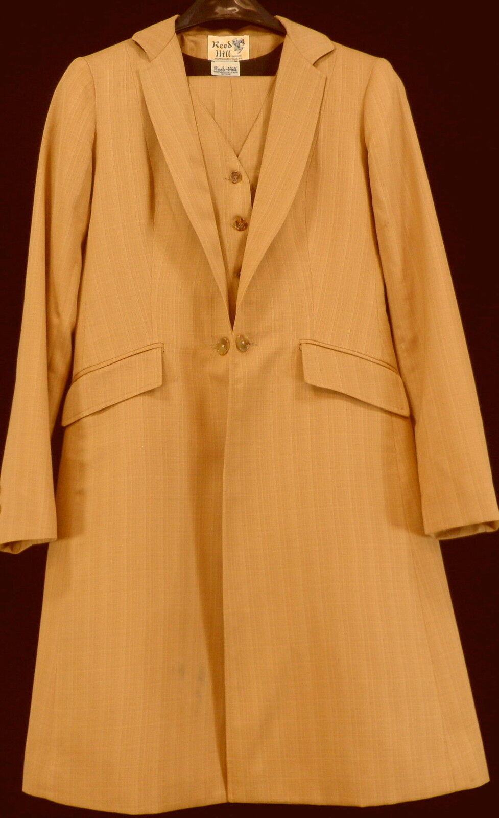Reed Hill Saddleseat suit 3 piece Pumpkin Spice   Bronze Poly 12 - Made in USA