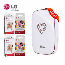 LG PD269 Pocket Photo 4 PoPo Mobile Printer Zink60+Sticker60   Jewelry-Heart