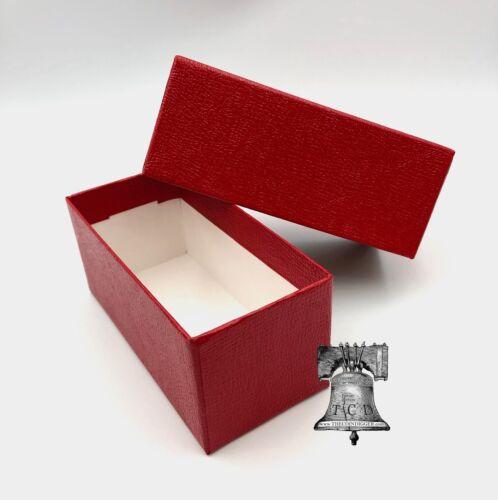 3 Coin Holder Storage Box Red 4.5x2x2 SINGLE ROW for 2x2 Flip Cardboard Nickel