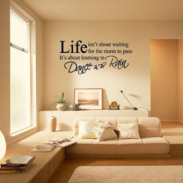popular Life Word Art DIY Wall Sticker PVC Removable Room Vinyl Decal Decor et