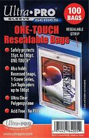 100 Ultra Pro One Touch Resealable Bags Magnetic Screw Card Sleeve on sale