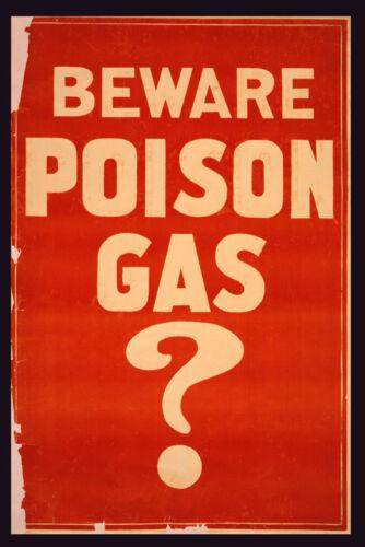 Beware Poison Gas Civil Defense Era Atomic Fallout Vintage Poster Repro FREE SH
