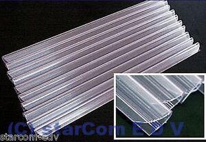 10-x-Klemmschiene-Klemmbinder-Klemmen-transparent-klar-DIN-A4-Clip-Klemmschienen