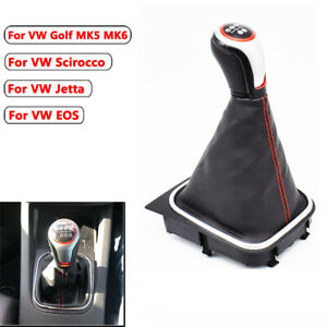 For-VW-Golf-MK5-MK6-5-6-Speed-Gear-Shift-Knob-Stick-Gaiter