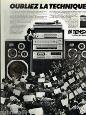 Publicité advertising 1979 La Chaine Hi-Fi Tensai
