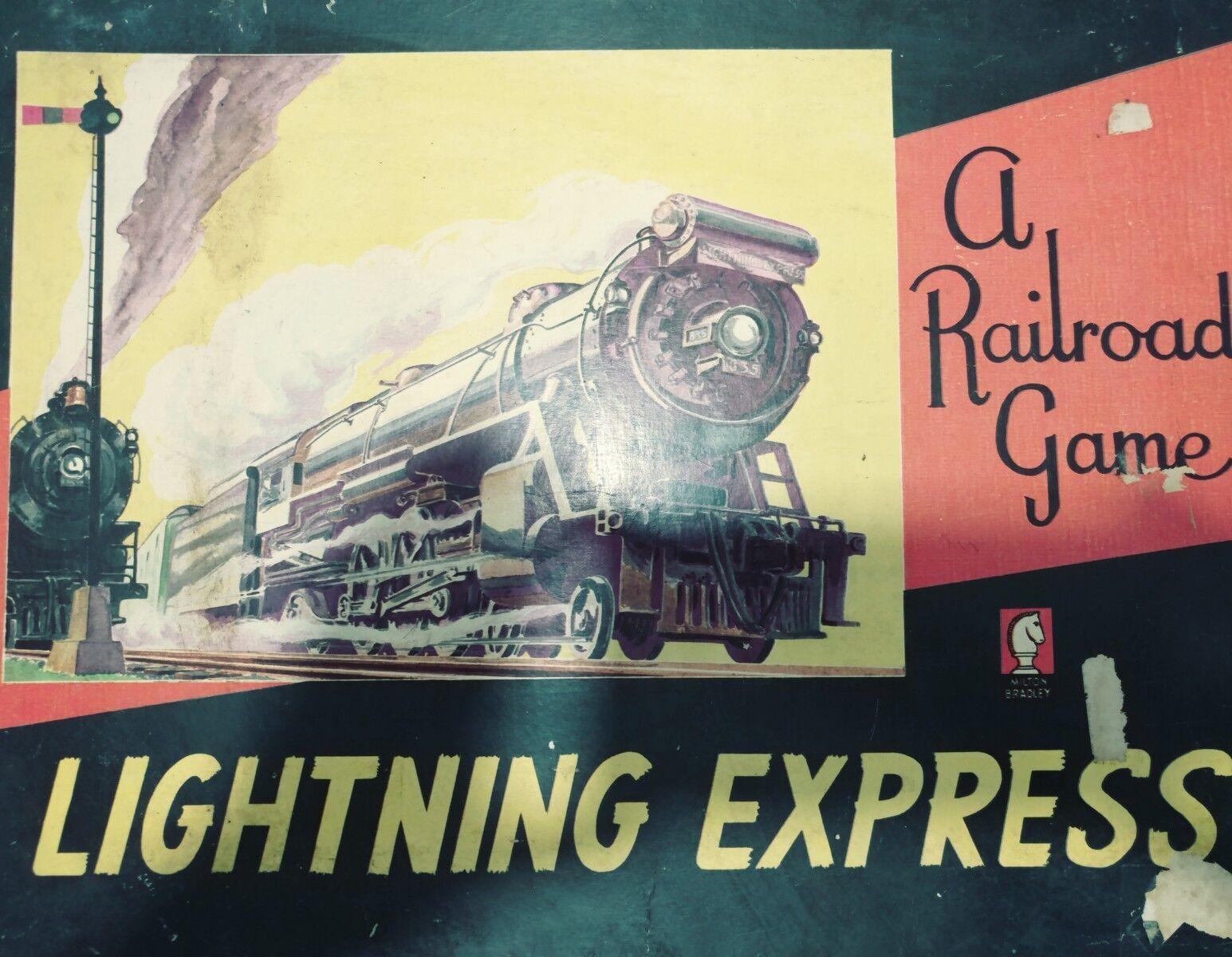 VINTAGE Lightning Express Railroad Board Game RARE