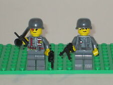 Lego 2 Minifig WW2 Modern Warfare Wehrmacht Soldiers with weapons