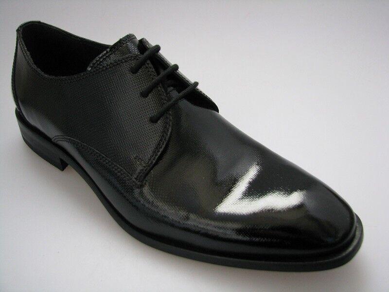Fretz men Herren Business Schuhe Gr. 42 in schwarz Lackleder