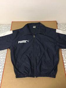 Puma-Track-jacket-nylon-stripe-80s-windbreaker-wind-light-navy-blue-spellout-vtg