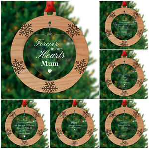 PERSONALISED-Remembrance-Memorial-Christmas-Decorations-Mum-Dad-Nanny-Grandad