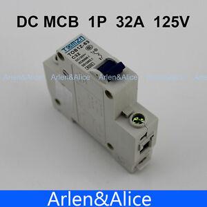 1P 32A DC 125V Circuit breaker MCB