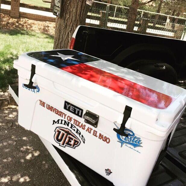 USATuff Cooler Decal Wrap fits fits fits YETI Tundra 110qt Niedriger Insert ROTfish Weiß 2b72b0