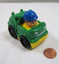 NEW! Fisher Price Little People WHEELIES GARBAGE MAN RECYCLING TRUCK VEHICLE #2