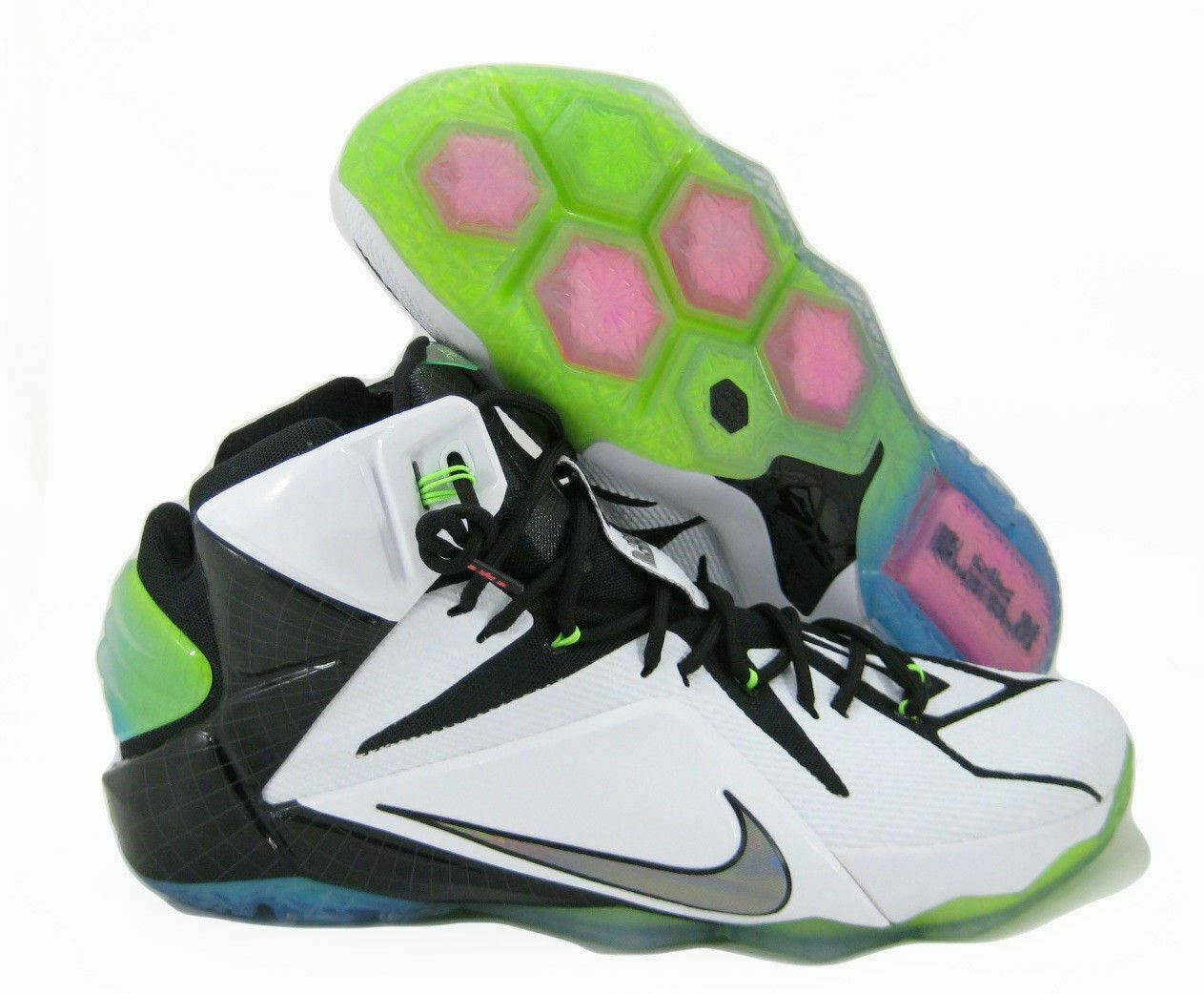 NIKE LEBRON 12 XII AS ALL STAR Size 16 WHITE MULTI COLOR BLACK 742549-190