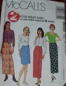 8835-Vintage-McCalls-SEWING-Pattern-Misses-2HR-Wrap-Skirt-Summer-Spring-UNCUT