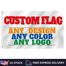 Custom Personalized Flags Advertising Banner Any Design Size Polyester Usa Stock