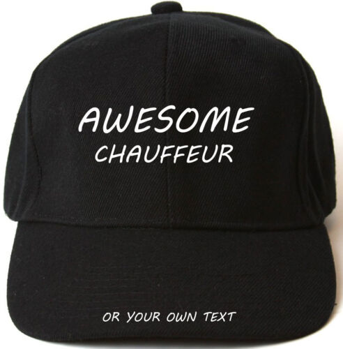 AWESOME CHAUFFEUR PERSONALISED BASEBALL CAP HAT XMAS GIFT