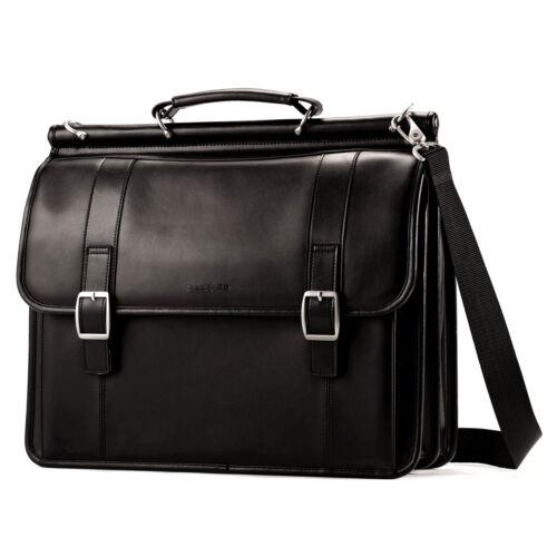 Samsonite Leather Dowelフラップオーバービジネスケース