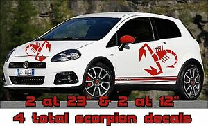 Set Of 4 Large Vinyl Scorpion Scorpian Decal Graphics Fit