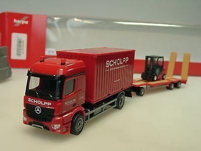Herpa 306232 Mercedes Benz Arocs Container LKW mit TU3 Gabelstapler Scholpp 1 87