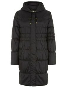8 £199 Quilted B Size Hooded Rrp 15 Coat Planet Black Box47 Uk pRYg8Yxw
