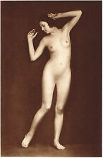 1920's Vintage German Female Nude Model Art Deco Hanns Holdt Photo Gravure Print